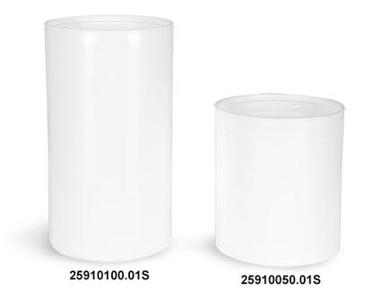 Plastic Bottles, White Polypro Airless Pump Bottles (Bulk), Pumps & Caps NOT Included