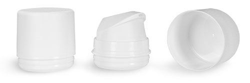 Airless Pumps, 48 Mm White Polypropylene Airless Pumps w/ Snap On Caps