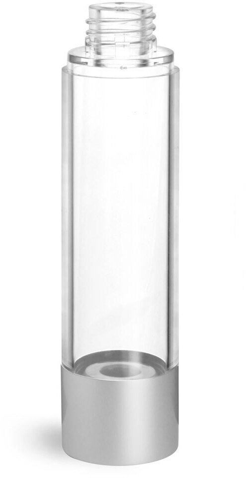 Clear AS Airless Pump Bottles (Bulk), Pumps & Caps NOT Included