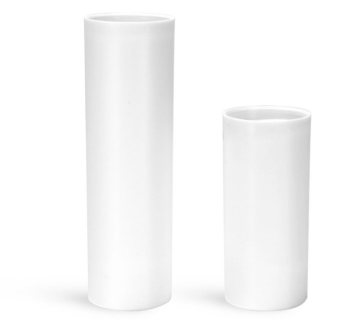 Plastic Bottles, White Polypropylene Airless Pump Bottles (Bulk), Pumps & Caps NOT Included