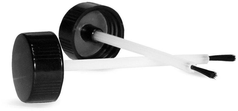 Caps, Black Phenolic Brush Caps w/ PE Rod and Brush
