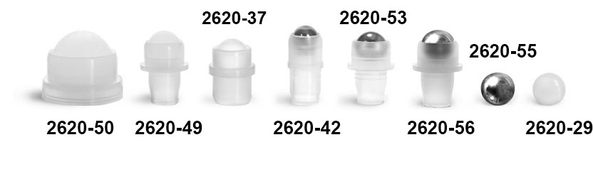 Dispensing Caps, Balls and Fitments For Roll On Containers