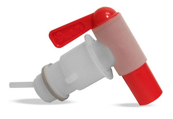 Drum Faucets, Natural LDPE Aeroflow, w/ Vent tube Drum Faucet