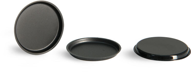 Disc Liners, Black Cosmetic Disc Jar Liners