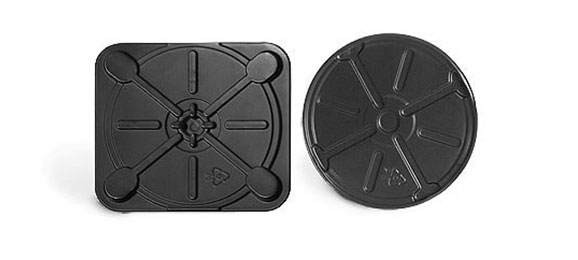Black Plastic CD Inserts for Square & Round Tins
