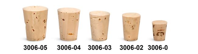 Cork Stoppers, Cork Stopper Sizes 000 - 5