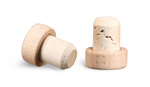 29 mm Cork Stoppers, Round Wood Bar Tops w/ Natural Corks