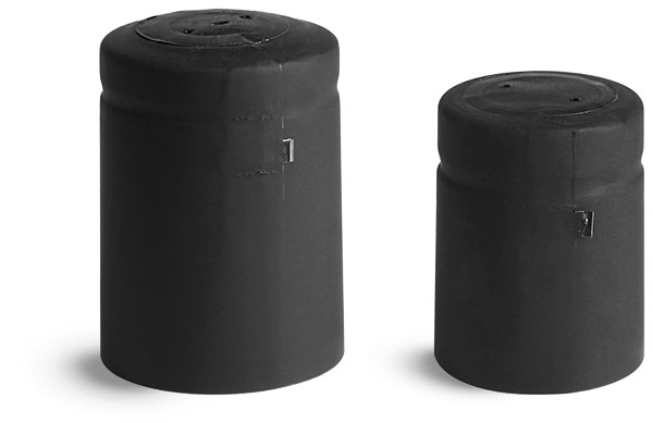 Capsules, Matte Black PVC Heat-Shrink Capsules