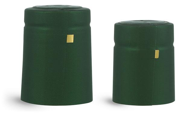 Capsules, Matte Green PVC Heat-Shrink Capsules w/ Gold Tear Tabs