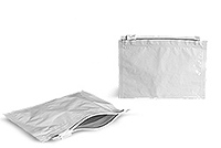 8.5 in x 6 in White Child Resistant Reclosable Pouch