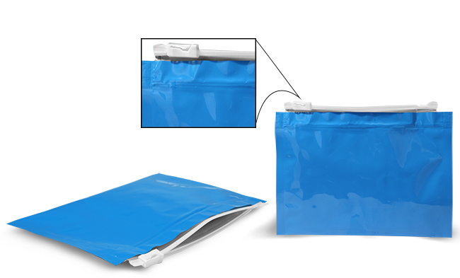 Plastic Bags, 8.5 in x 6 in Blue Child Resistant Reclosable Pouches