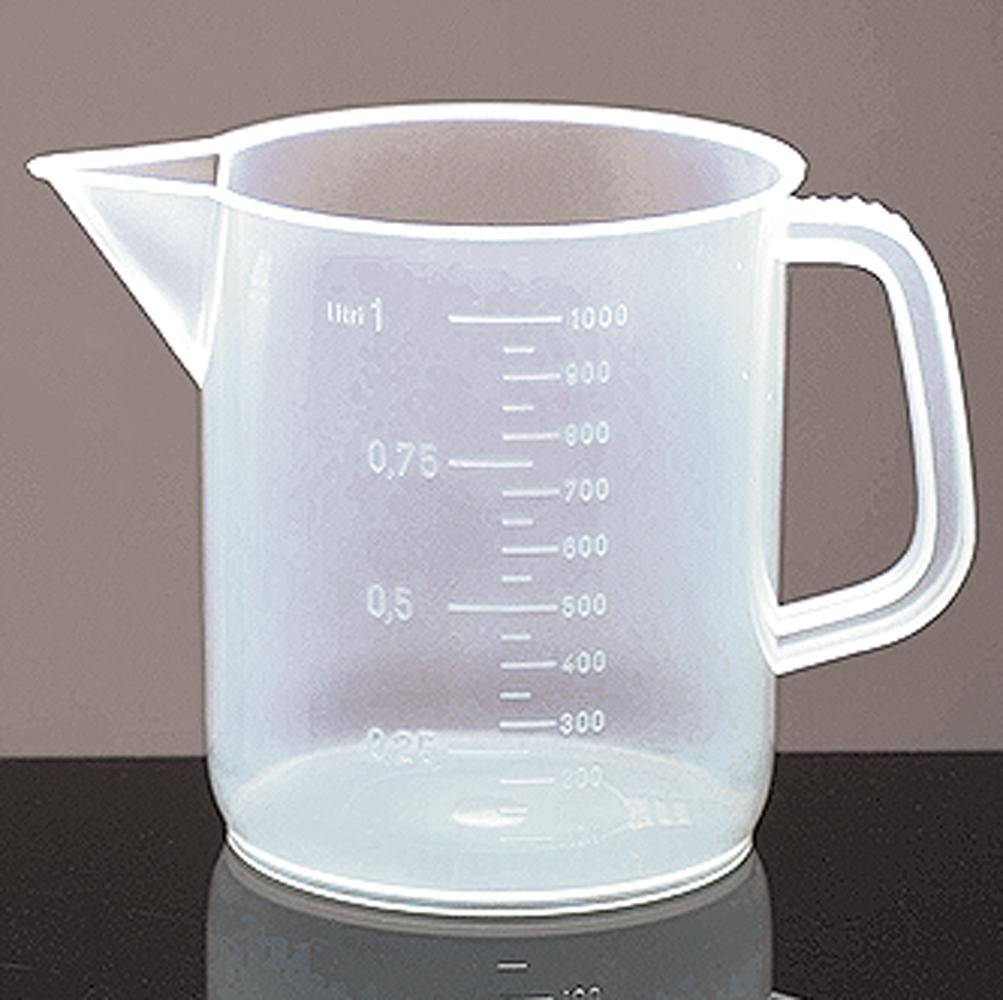 1000 ml Low Form Polypropylene Plastic Beakers w/ Handles