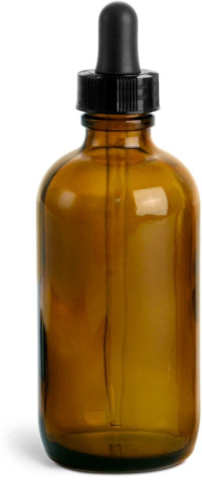 22/400    Black Bulb Glass Droppers