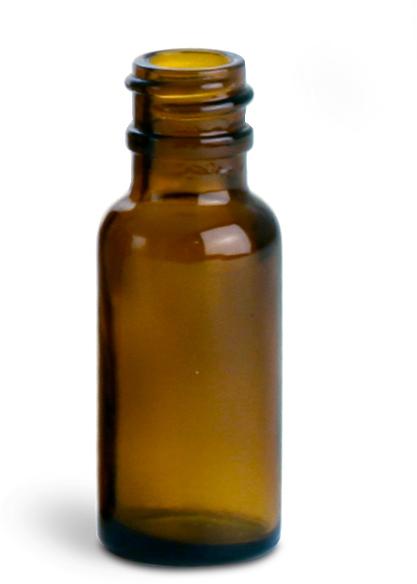 Amber Glass Round Bottles (Bulk), Caps NOT Included