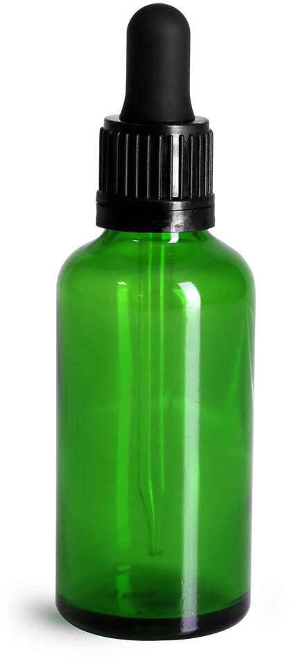 Black Bulb Glass Droppers w/ TE Seal