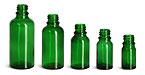 5 ml Glass Bottles, Green Glass Euro Dropper Bottles
