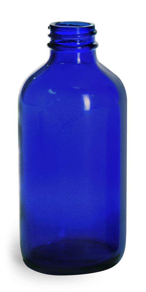 8 oz Blue Glass Bottles