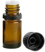 Amber Glass Euro Dropper Bottles w/ Black Tamper Evident Caps & Orifice Reducers