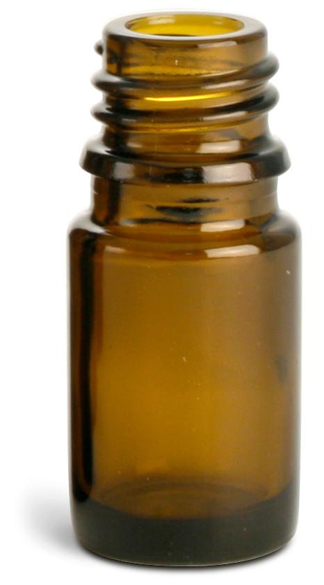 5 ml Amber Glass Euro Dropper Bottles (Bulk), Caps NOT Included