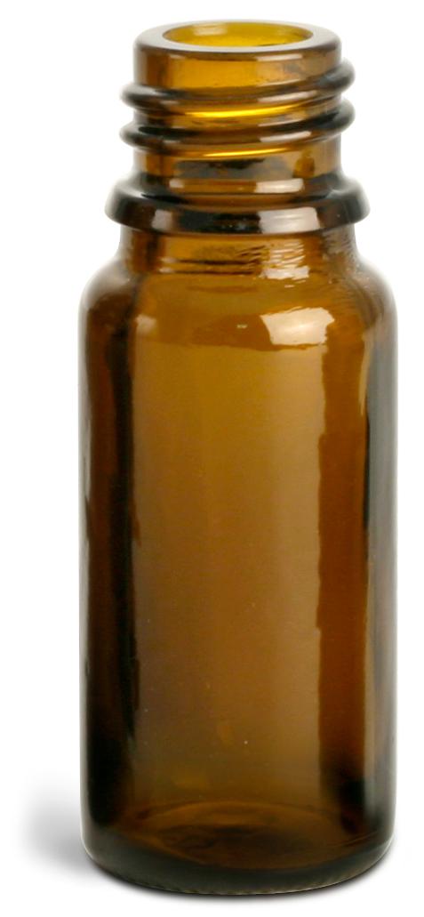 10 ml Amber Glass Euro Dropper Bottles (Bulk), Caps NOT Included