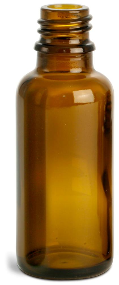 30 ml Amber Glass Euro Dropper Bottles (Bulk), Caps NOT Included