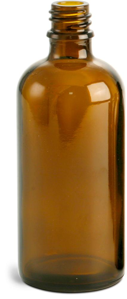 100 ml Amber Glass Euro Dropper Bottles (Bulk), Caps NOT Included
