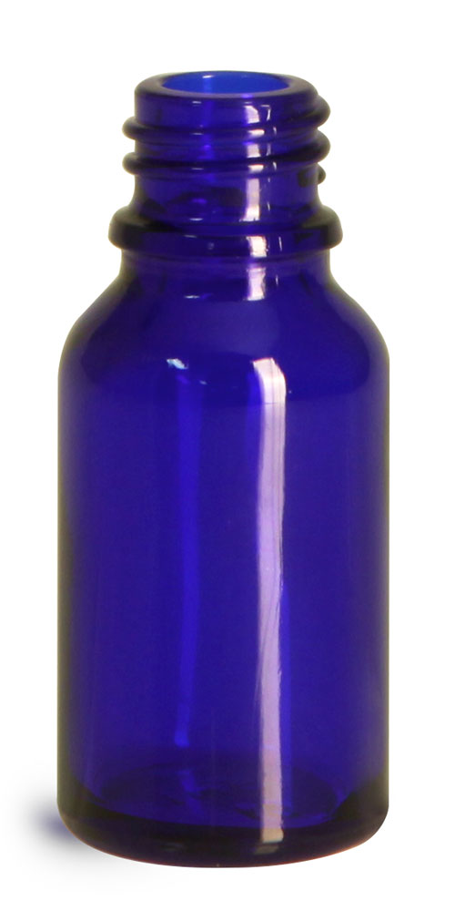 15 ml Glass Bottles, Cobalt Blue Glass Euro Dropper Bottles (Bulk), Caps NOT Included