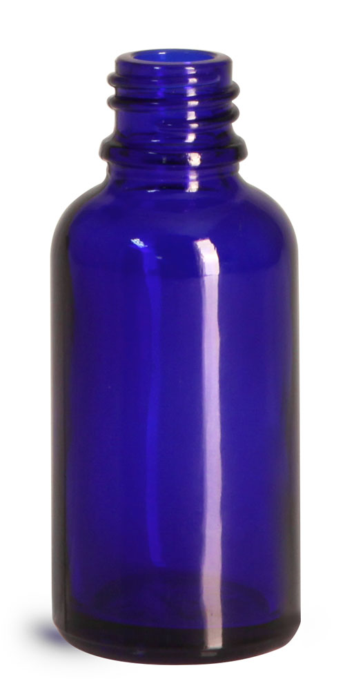 30 ml Glass Bottles, Cobalt Blue Glass Euro Dropper Bottles (Bulk), Caps NOT Included