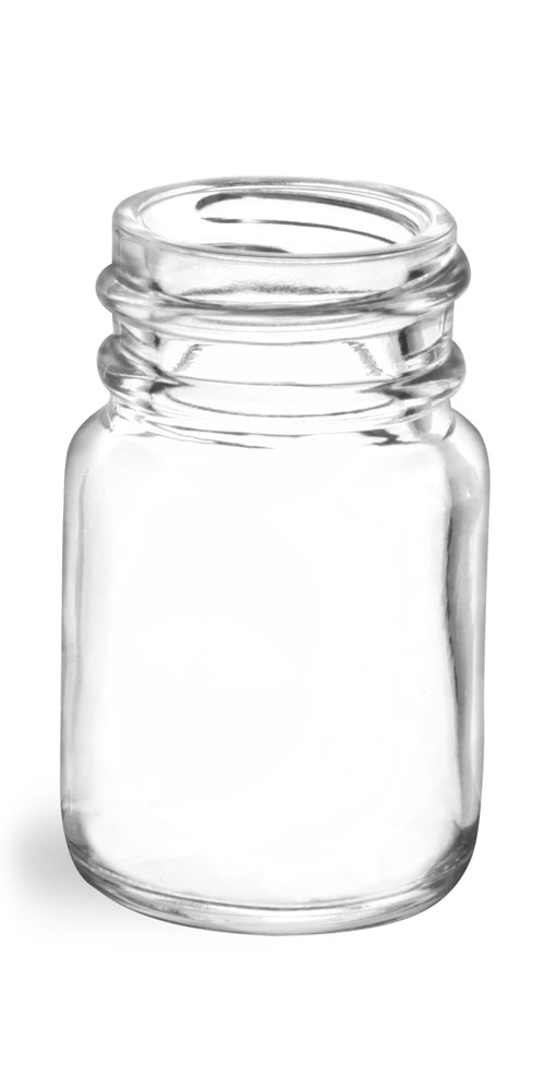 15 cc        Clear Glass Pharmaceutical Round Bottles (Bulk), Caps NOT Included