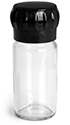 100 ml       100 ml        Clear Glass Spice Bottle w/ Easy Grip Grinder Cap