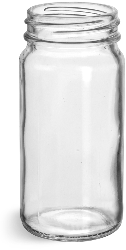 Glass Bottles, Clear Glass Spice Bottles