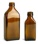 250 ml      Amber Glass Oblong Flasks