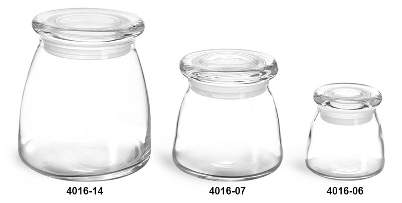 Preferred SKS Bottle & Packaging - Clear Glass Jars, Clear Glass Candle Jars  XD52