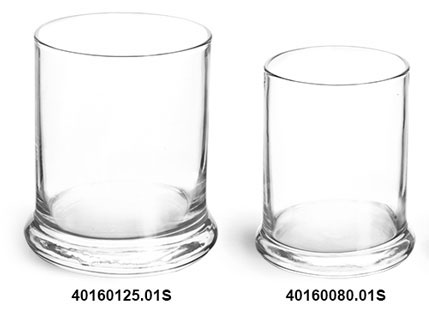 Glass Jars, Clear Glass Candle Jars (Bulk), Lids Not Included