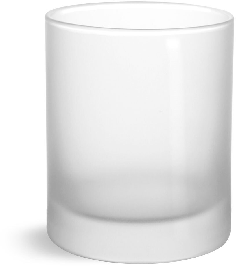 Glass Jars, Frosted Glass Candle Jar