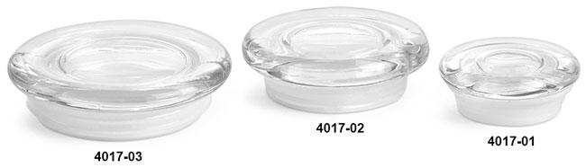 Glass Lids, Clear Glass Flat Pressed Jar Lids w/ Fitments