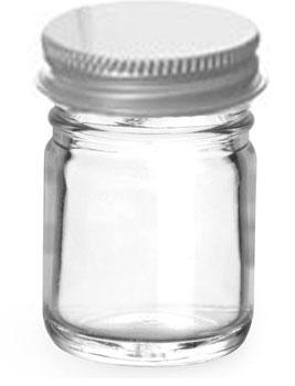 1 oz Clear Glass Jars w/ Lined Aluminum Caps