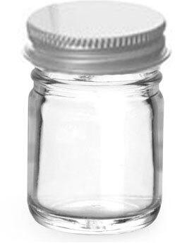 Clear Glass Jars w/ Lined Aluminum Caps