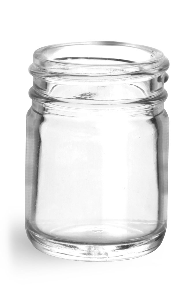 1 oz Clear Glass Jars (Bulk), Caps NOT Included