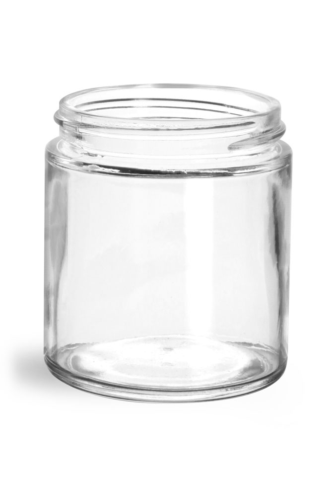 4 oz Clear Glass Jars (Bulk), Caps NOT Included