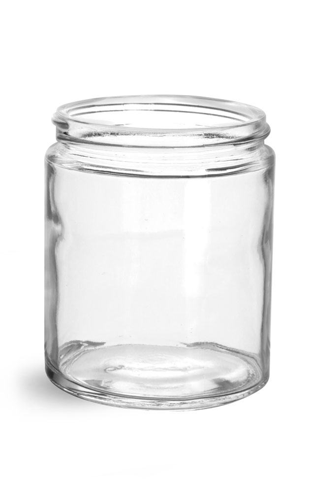 6 oz Clear Glass Jars (Bulk), Caps NOT Included