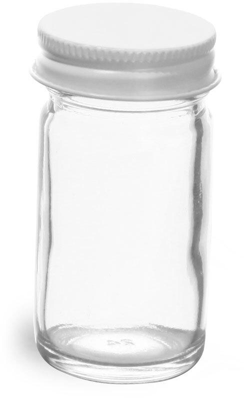 White Metal Cap w/ Plastisol Liner