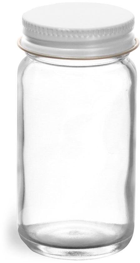 White Metal Foil Caps