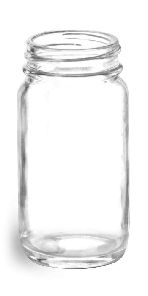 2 oz Clear Glass Paragon Jars (Bulk), Caps NOT Included