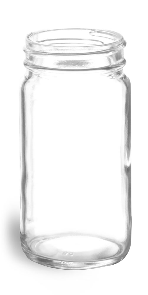 4 oz        Clear Glass Paragon Jars (Bulk), Caps NOT Included