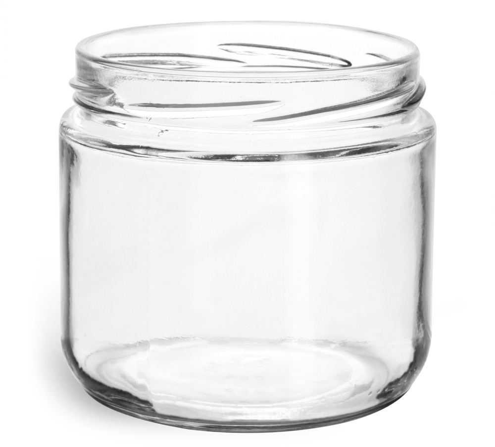 Clear Glass Jars, (Bulk) Caps NOT Included
