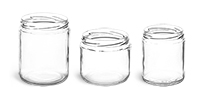 16 oz Clear Glass Straight Sided Jars (Bulk)