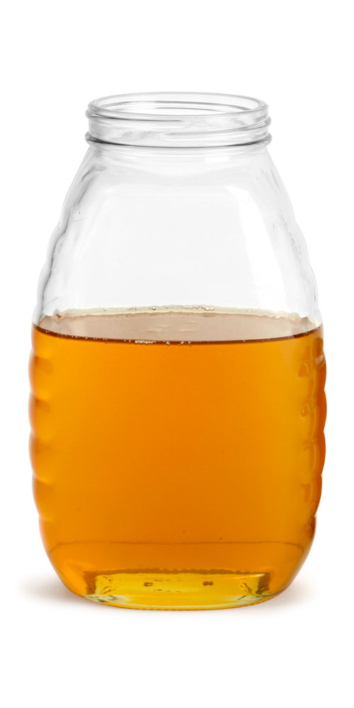32 oz Clear Glass Honey Jars