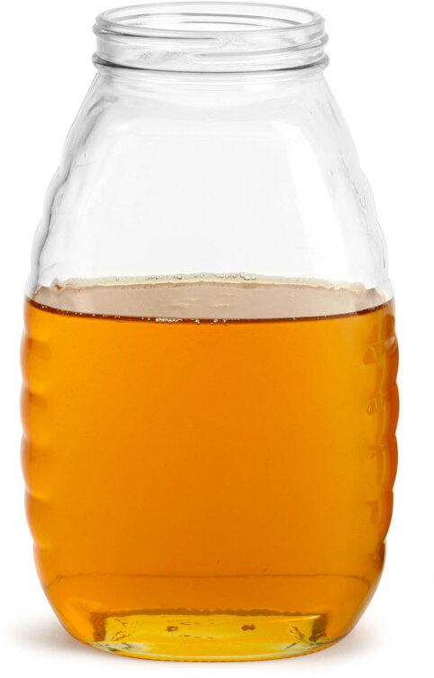 Clear Glass Honey Jars