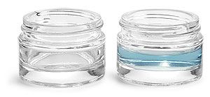 Glass Jars, 30 ml Clear Glass Thick Wall Jars (Bulk), Caps NOT Included